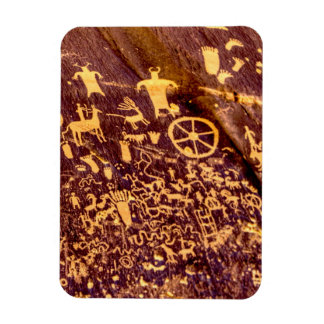 American Indian Newspaper Rock Petroglyph Ancient Rectangular Photo Magnet