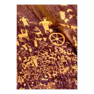 American Indian Newspaper Rock Petroglyph Ancient Magnetic Invitations