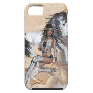American Indian Princess and White Horse iPhone 5 Cover