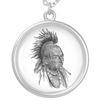 American Indian Round Pendant Necklace