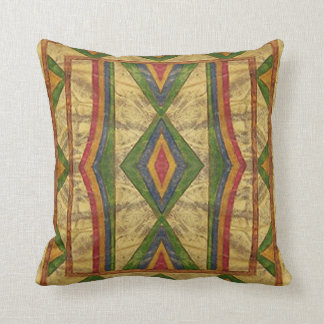 American Indian (Sioux) Parfleche style Pillow. Throw Pillow
