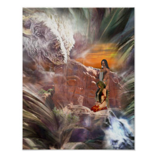 American Indian Wedding Night Poster