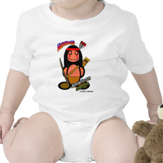 American Indian with logos Baby Creeper