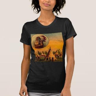 American Indians Vintage Magic Lantern Slide T-Shirt
