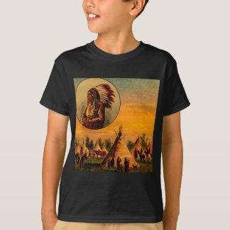 American Indians Vintage Magic Lantern Slide T Shirt