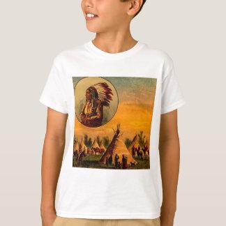 American Indians Vintage Magic Lantern Slide T Shirts