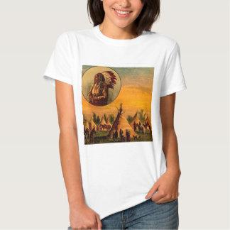 American Indians Vintage Magic Lantern Slide Tee Shirt