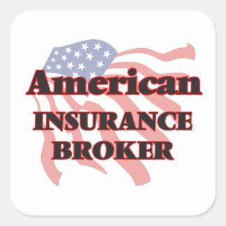 American Insurance Broker Square Sticker