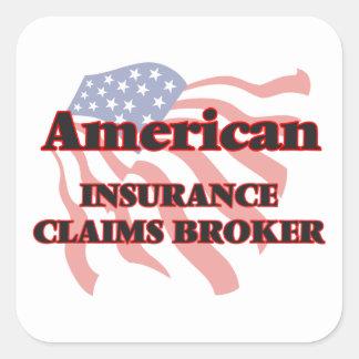 American Insurance Claims Broker Square Sticker
