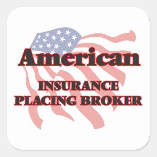 American Insurance Placing Broker Square Sticker