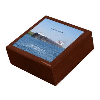 American Integrity square keepsake box