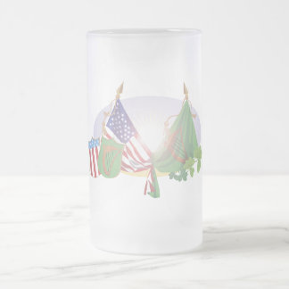 American Irish Frosted Glass Beer Mug