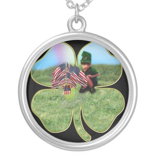 American Irish Leprechaun Personalized Necklace