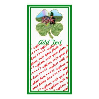 American Irish Leprechaun Photo Greeting Card