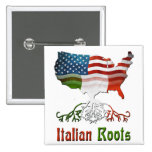 American Italian Roots Button