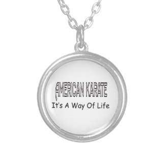American Karate It s A Way Of Life Personalized Necklace