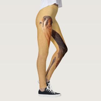 American Kestrel Painting - Original Bird Art Leggings