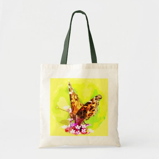 American Lady Butterfly Tote Bags