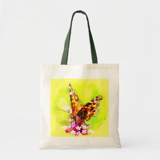 American Lady Butterfly Budget Tote Bag