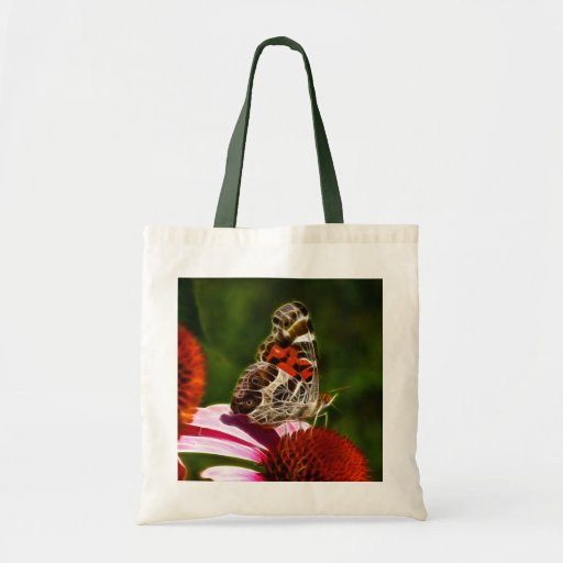 American Lady butterfly tote bag