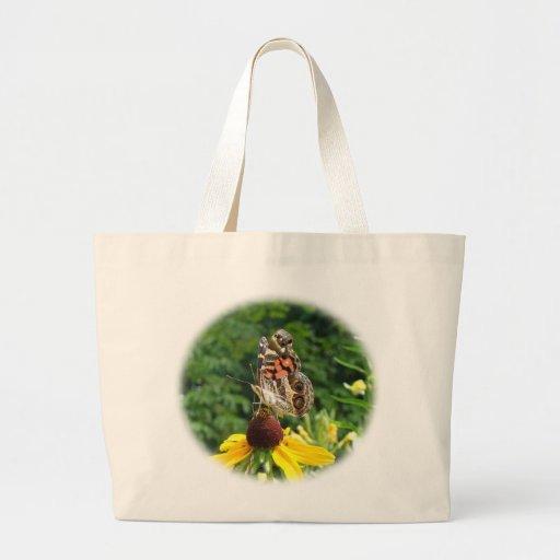 American Lady Butterfly - Vanessa virginiensis Canvas Bag