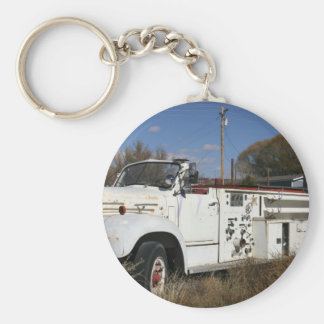 American LaFrance Firetruck Emblem Basic Round Button Key Ring