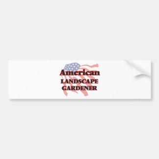 American Landscape Gardener Bumper Sticker