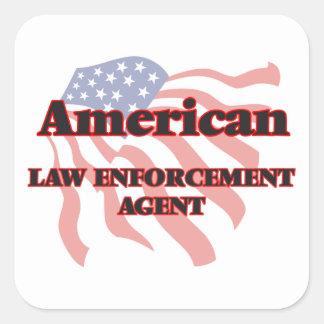 American Law Enforcement Agent Square Sticker