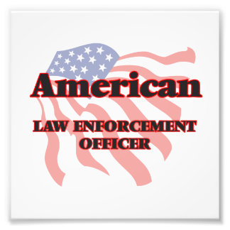 American Law Enforcement Officer Photographic Print