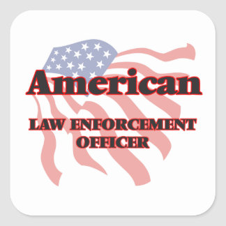 American Law Enforcement Officer Square Sticker