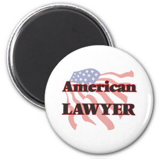 American Lawyer 6 Cm Round Magnet