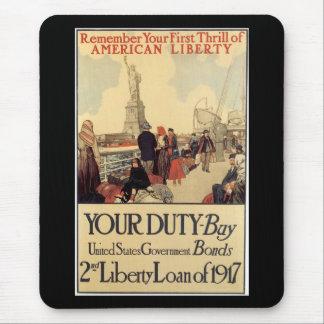 American Liberty World War 2 Mouse Pad