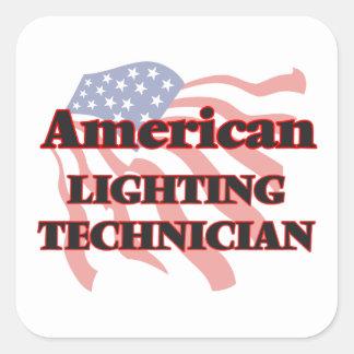 American Lighting Technician Square Sticker