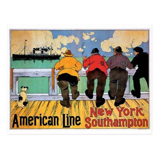 American Line Poster Postcards