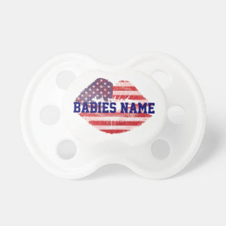 American lips with custom text template dummy