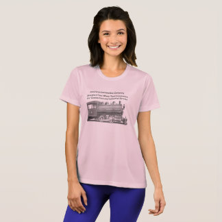 American Locomotive Company 0-4-0 T Womens T-Shirt