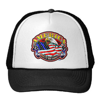 American Love It or Leave it Mesh Hat