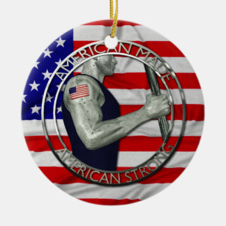American Made American Strong Christmas Ornament