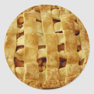 American Made Apple Pie Zig Zag Crust Classic Round Sticker
