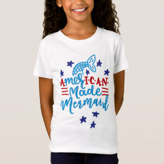 American Made Mermaid. Cute Sayings T-Shirt