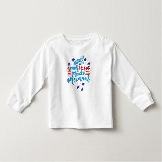American Made Mermaid. Cute Sayings Toddler T-Shirt
