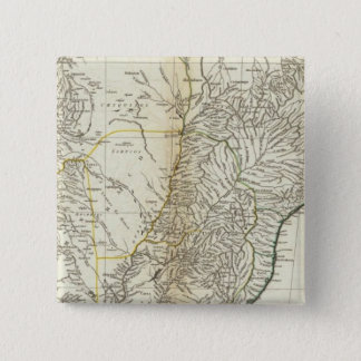 American Map Engraved Central Section 15 Cm Square Badge