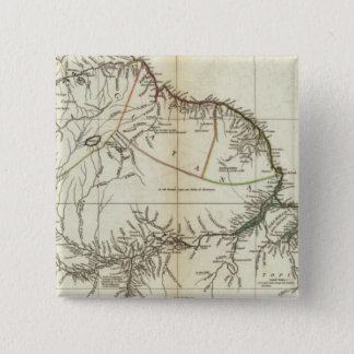 American Map Engraved Northern Section 15 Cm Square Badge