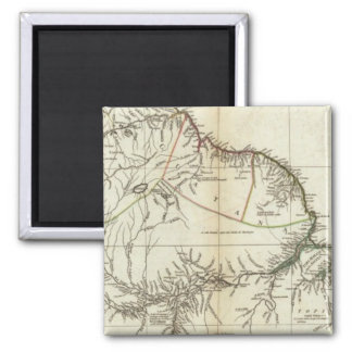 American Map Engraved Northern Section Square Magnet
