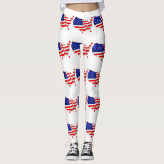 AMERICAN MAP LEGGINGS