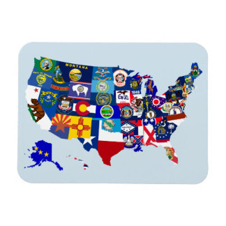 American Map State Flags Mosaic Magnet