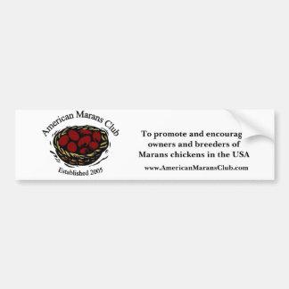 American Marans Club Logo, To promote and encou... Bumper Sticker