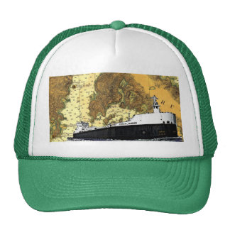 American Mariner Ship and old Chart hat