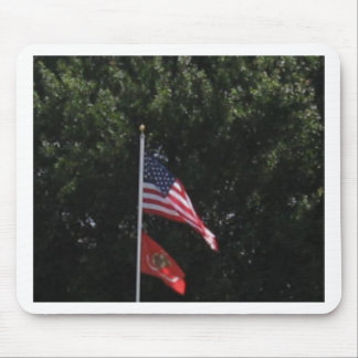 American Marines Flag Mouse Pad