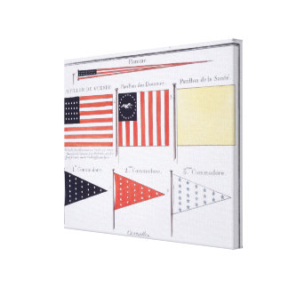 American Maritime Flags and Pennants, from a Frenc Canvas Print
